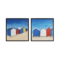 Sterling Beach Retreat I and II Framed Art 10216-S2