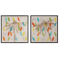 Petals I and II 32 X 2 inch Art Print