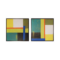 Sterling Geometry I and II Framed Art 10235-S2