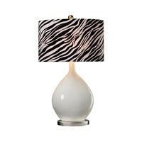 Sterling Industries Ceramic Table Lamp With Zebra Shade 111-1105