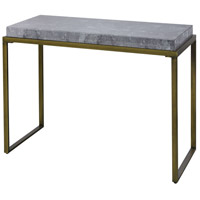 Sterling 1114-335 Jeeves 43 X 19 inch Antique Silver and Faux Grey Marble Console