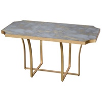 Xanadu 38 X 22 inch Gold Leaf/Faux Grey Marble Coffee Table