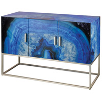 Sterling 1114-367 Five-O Blue Agate with Silver Cabinet