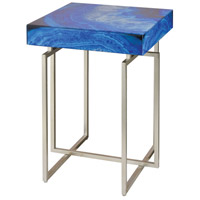 Sterling 1114-370 Five-O 17 inch Blue Agate with Silver Accent Table