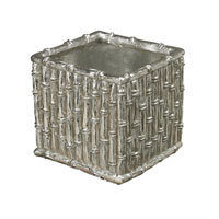 Silver Bamboo Silver Leaf Vase