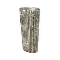 Sterling Silver Bamboo Vase in Silver Leaf 112-1127