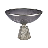 Sterling Smoked Glass Bowl in Silver 112-1130