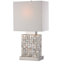 Sterling 112-1155 Mini 17 inch 40 watt Chrome/Mother of Pearl Table Lamp Portable Light