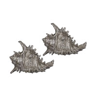 Sterling Set of 2 Shell Statuary in Silver 112-1160/S2
