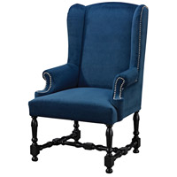 Sterling Neville Armchair in Black, Navy 1139-028