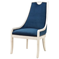 Sterling Constanzie Chair in Capuccinno Foam, Navy 1139-030