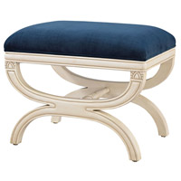 Sterling Constanzie Bench in Capuccinno Foam, Navy 1139-031