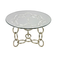 Chain 28 X 28 inch Silver Accent Table Home Decor