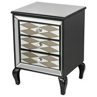 Sterling 114-148 Diamond Clear and Gloss Black Chest