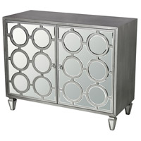 Sterling Platinum Cabinet in Clear Mirror and Silver 114-150