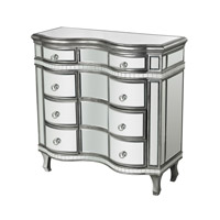 Sterling Signature Mirror Chest in Clear Mirror and Silver 114-151