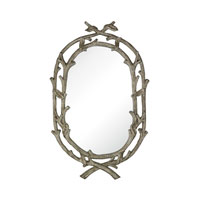 Sterling Brampton Mirror in Warm Antique Silver Leaf With Champagne Antique 114-21