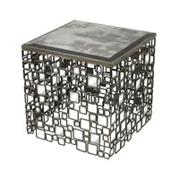 Sterling Alvis Side Table in Transitional Silver 114-37