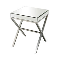 Klein 19 X 19 inch Clear and Chrome Side Table Home Decor