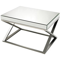 Klein 31 X 23 inch Clear and Chrome Coffee Table Home Decor