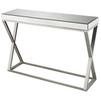Klein 45 X 12 inch Clear and Chrome Console Table