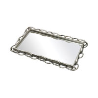 Sterling Erin Tray in Clear and Silver Leaf 114-45