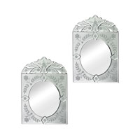 Sterling Set of 2 Venetian Mirror in Clear 114-48/S2