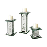 Sterling Set of 3 Venetian Candle Holder in Clear 114-49/S3
