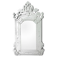 Venetian 58 X 38 inch Clear Wall Mirror Home Decor