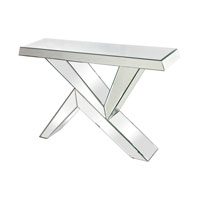 Juxtaposed Angles 46 X 13 inch Clear Console Table Home Decor
