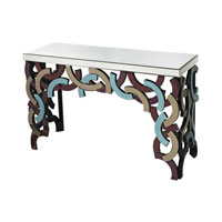 Sterling Colored Glass Console Table in Multicolored 114-69