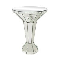 Mirrored 20 X 20 inch Clear Accent Table Home Decor