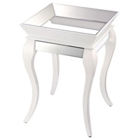 Sterling Bent Glass Accent Table in White 114-79