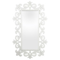 Sterling 114-85 Glass Scroll 45 X 27 inch White Wall Mirror
