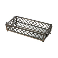 Metal Frame Bronze Tray