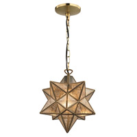 Moravian 1 Light 11 inch Gold Pendant Ceiling Light