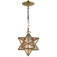 Moravian 1 Light 9 inch Gold Pendant Ceiling Light
