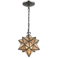 Moravian 1 Light 9 inch Bronze Pendant Ceiling Light