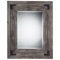 Staffordshire 38 X 30 inch Monterey Reclaimed Wood Wall Mirror Home Decor