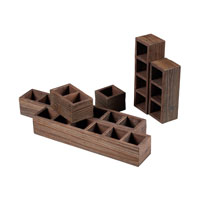 Sterling Industries Wooden Post Office Sorting Shelves Storage in Stained Wood 116-008 photo thumbnail