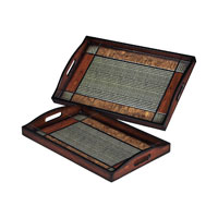 Sterling Industries Set Of 2 Checked Trays 118-003