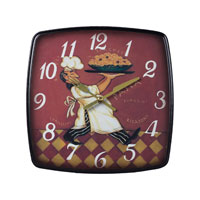 Sterling 118-010 Busy Chef 9 X 9 inch Wall Clock photo thumbnail