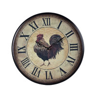 Sterling Industries Rooster Clock - Small 118-011 photo thumbnail