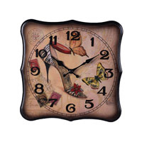 Sterling Industries Butterfly Shoe Clock 118-012 photo thumbnail