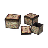 Sterling Industries Set Of 2 Butterfly Boxes Storage Box 118-016
