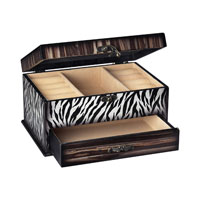 Sterling Industries Zebra Jewelry Box Decorative Accessory 118-018