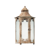 Sterling Industries Vintage Lantern Decorative Accessory in Chauncey Distressed Cream 118-021