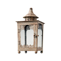 Sterling Industries Vintage Lantern Decorative Accessory in Chauncey Distressed Cream 118-022