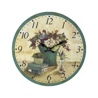 Sterling 118-033 Flowers 13 X 13 inch Wall Clock photo thumbnail