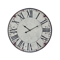 Sterling Industries Roman Numeral Printed Clock in White with Black Print 118-040